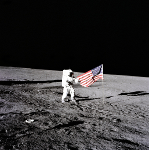 "Apollo 12 Commander Charles ""Pete"" Conrad on the Moon"