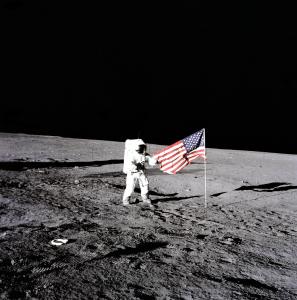 "Apollo 12 Commander Charles ""Pete"" Conrad on the Moon"