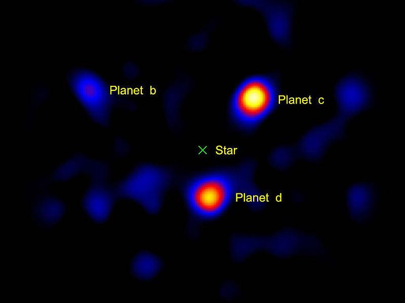Exoplanets around the star HR8799