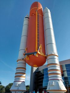 space shuttle fuel tank and boosters