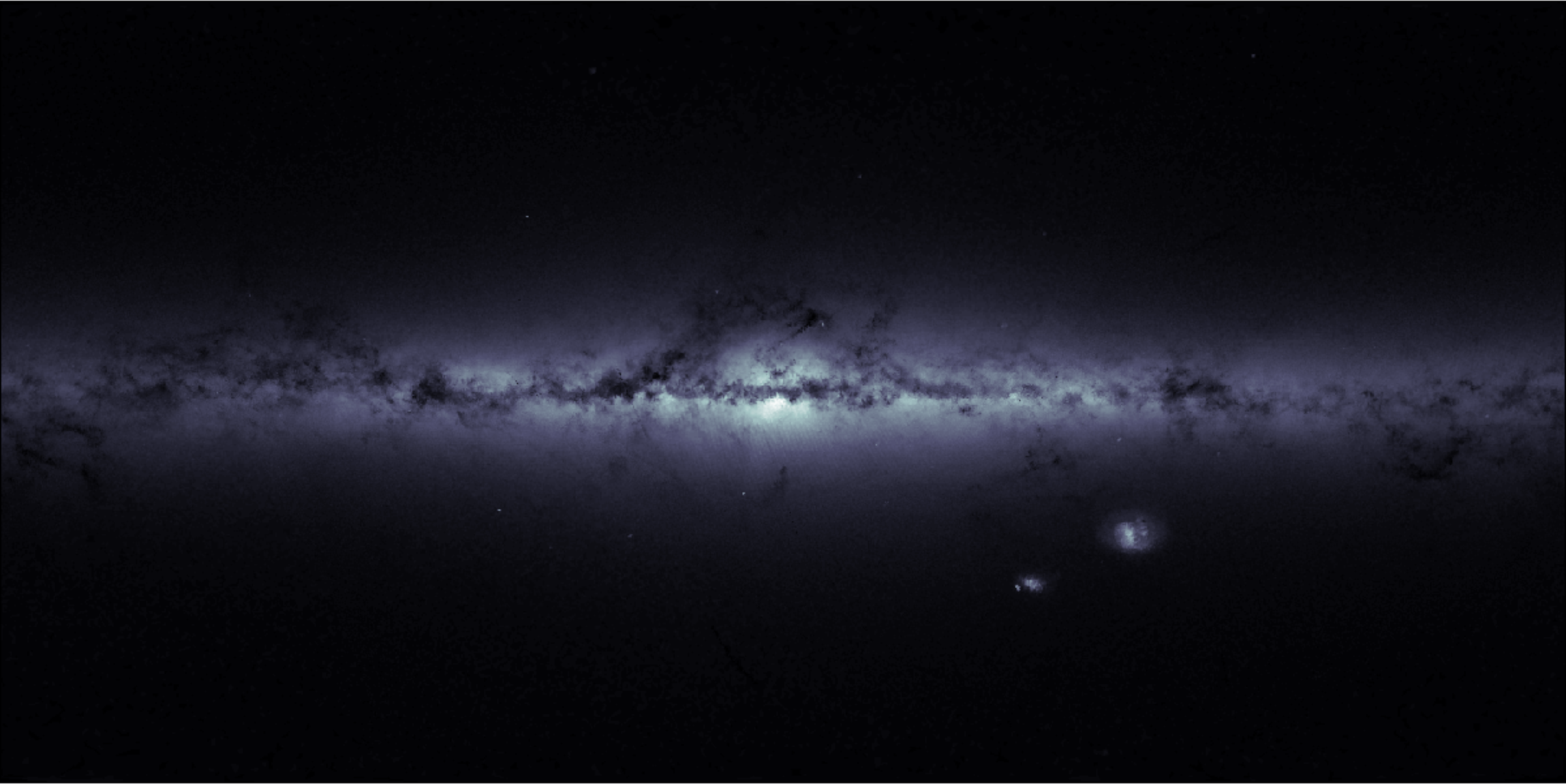 Milky Way Stellar Density Map