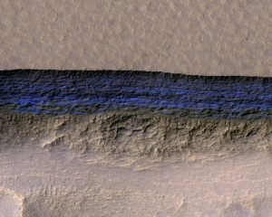 water-ice cliff on Mars