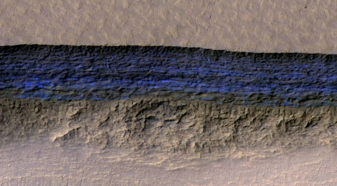 Cliffs of Ice Found on Mars