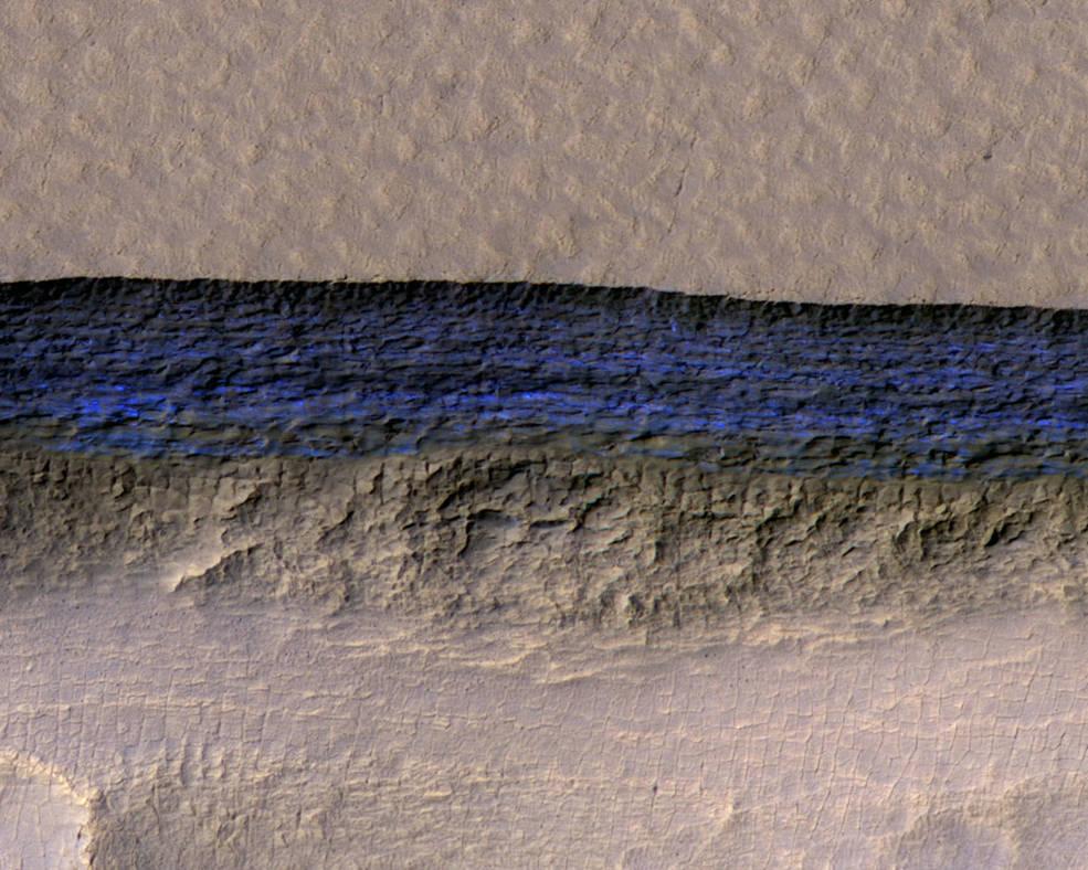 water-ice cliff on Mars