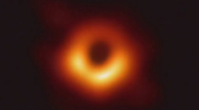 The first ever image of a black hole