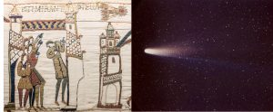 Halleys Comet from the Bayeux Tapestry and 1986.