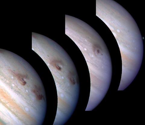 Shoemaker-Levy 9's impact marks on Jupiter